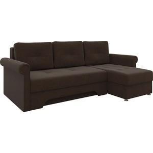 Диван угловой АртМебель Гранд микровельвет коричневый правый диван угловой артмебель атланта микровельвет коричневый правый