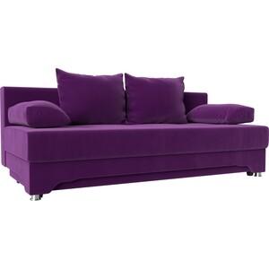Диван-еврокнижка АртМебель Ник-2 микровельвет фиолетовый цены онлайн