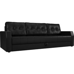 Диван-еврокнижка АртМебель Атлант БС эко-кожа черный прямой диван еврокнижка атлант рогожка