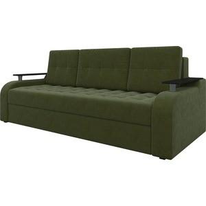 Диван-еврокнижка АртМебель Ричард микровельвет зеленый