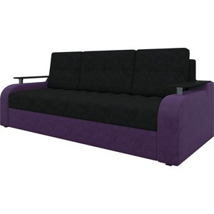 Диван-еврокнижка АртМебель Ричард микровельвет черно-фиолетов диван еврокнижка артмебель атлант т микровельвет черно фиолетов