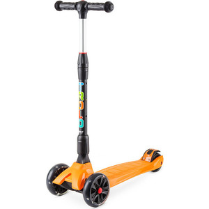 Самокат 3-х колесный Trolo Rapid со светящимися колесами Оранжевый (141605) самокат trolo pixel