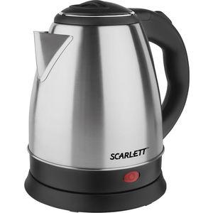 Чайник электрический Scarlett SC-EK21S40 серебристый/черный электрический чайник scarlett sc ek18p15