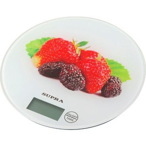 Кухонные весы Supra BSS-4601 белый/клубника