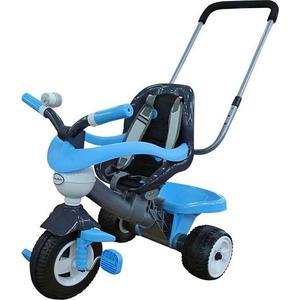 Coloma 46727 Велосипед 3-х кол. ANGEL Blue с ограждением, клаксоном, ручкой, ремешком и мягким сидением