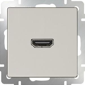 Фото - Розетка HDMI Werkel Розетка HDMI слоновая кость WL03-60-11 аксессуар mobiledata hdmi 4k v 2 0 плоский 1 8m hdmi 2 0 fn 1 8