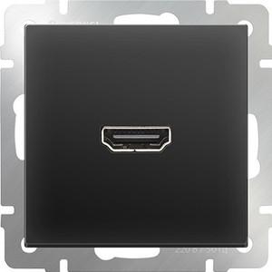 Розетка HDMI Werkel Розетка HDMI черная матовая WL08-60-11