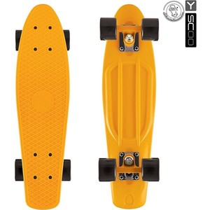 RT 401-O Скейтборд Fishskateboard 22 винил 56,6х15 с сумкой ORANGE/black rt 402 o скейтборд big fishskateboard 27 винил 68 6х19 с сумкой orange black