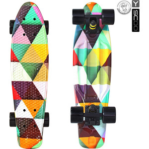 RT 401G-T Скейтборд Fishskateboard Print 22 винил 56,6х15 с сумкой Triddent beautify professional smal black animal print aluminium t beauty box cosmetics