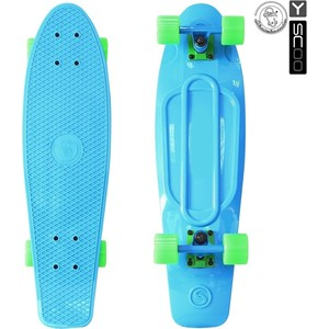 RT 402-B Скейтборд Big Fishskateboard 27 винил 68,6х19 с сумкой BLUE/green rt 402e y скейтборд big fishskateboard glow 27 винил 68 6х19 с сумкой yellow yellow