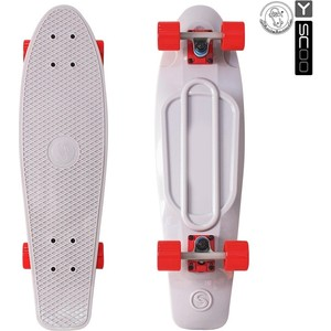 RT 402-Gr Скейтборд Big Fishskateboard 27 винил 68,6х19 с сумкой GREY/red rt 402 pr скейтборд big fishskateboard 27 винил 68 6х19 с сумкой purple green