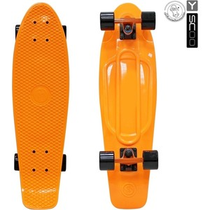 RT 402-O Скейтборд Big Fishskateboard 27 винил 68,6х19 с сумкой ORANGE/black rt 402 pr скейтборд big fishskateboard 27 винил 68 6х19 с сумкой purple green