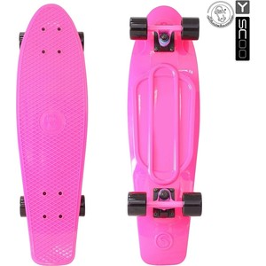 RT 402-P Скейтборд Big Fishskateboard 27 винил 68,6х19 с сумкой PINK/black rt 402 pr скейтборд big fishskateboard 27 винил 68 6х19 с сумкой purple green