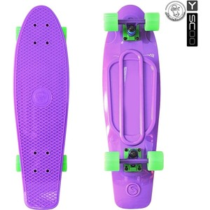 RT 402-Pr Скейтборд Big Fishskateboard 27 винил 68,6х19 с сумкой PURPLE/green rt 402e y скейтборд big fishskateboard glow 27 винил 68 6х19 с сумкой yellow yellow