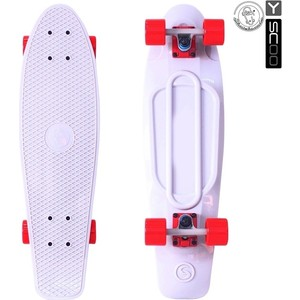 RT 402-W Скейтборд Big Fishskateboard 27 винил 68,6х19 с сумкой WHITE/red rt 402 pr скейтборд big fishskateboard 27 винил 68 6х19 с сумкой purple green