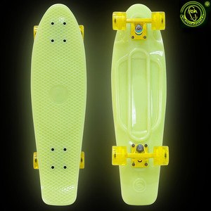 RT 402E-Y Скейтборд Big Fishskateboard GLOW 27 винил 68,6х19 с сумкой YELLOW/yellow скейтборд 8 колес