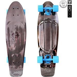 RT 402H-Bb Скейтборд Big Fishskateboard metallic 27 винил 68,6х19 с сумкой BLACK BRONZAT/blue скейтборд 8 колес