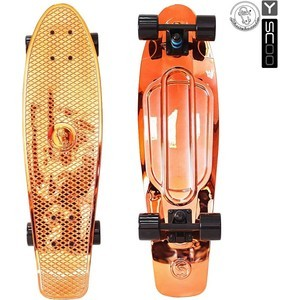 RT 402H-O Скейтборд Big Fishskateboard metallic 27 винил 68,6х19 с сумкой ORANGE/black скейтборд 8 колес