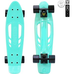 RT 405-A Скейтборд Skateboard Fishbone с ручкой 22 винил 56,6х15 с сумкой AQUA/black 6 5 adult electric scooter hoverboard skateboard overboard smart balance skateboard balance board giroskuter or oxboard