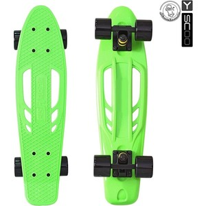 RT 405-G Скейтборд Skateboard Fishbone с ручкой 22 винил 56,6х15 с сумкой GREEN/black rt 405 a скейтборд skateboard fishbone с ручкой 22 винил 56 6х15 с сумкой aqua black