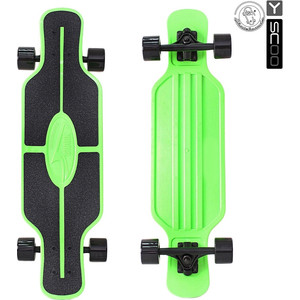 RT 408-G Скейтборд Longboard Shark TIR 31 пластик 79х22 с сумкой GREEN/black ep1m32 cnv to plcc ic programmer socket adapter black green