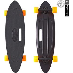 RT 409-B Скейтборд Longboard Shark с ручкой 31 пластик 79х22 с сумкой BLACK/orange скейтборд 8 колес