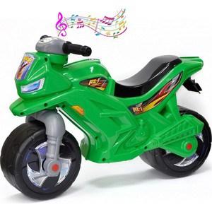 RT ОР501в3 Каталка-мотоцикл беговел Racer RZ 1 с музыкой, цвет зеленый