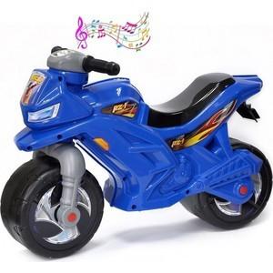 RT ОР501в3 Каталка-мотоцикл беговел Racer RZ 1 с музыкой, цвет синий