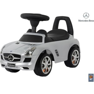 RT 332Р Каталка-автомобиль Mercedes-Benz с музыкой - серебро металлик magic cubes alatoys pcch3003 play building block set pyramid cube toys for boys girls abc