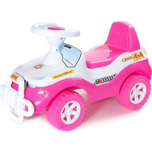 RT ОР105 Каталка машинка Джипик с клаксоном розовая