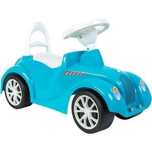 RT ОР900 Каталка машинка Ретро с клаксоном голубая