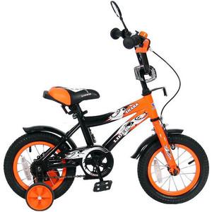 Velolider 12A-1287OR 2-х колесный велосипед 12 LIDER SHARK оранжевый/черный велосипед velolider rush army 18 ra18 хаки