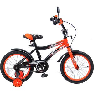 Velolider 16A-1687OR 2-х колесный велосипед 16 LIDER SHARK оранжевый/черный rt kg1606 2 х колесный велосипед ba hot rod 16 1s оранжевый