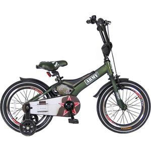Velolider RA16 2-х колесный велосипед 16 RUSH ARMY хаки velolider r18b 2 х колесный велосипед 18 rush sport бирюзовый