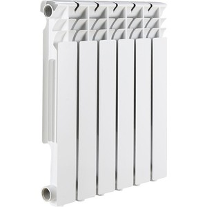 Радиатор отопления ROMMER Optima BM 500 биметаллический 6 секций радиатор отопления rommer optima bm 500 биметаллический 8 секций