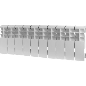 Радиатор отопления ROMMER Plus 200 алюминиевый 10 секций радиатор алюминиевый roomer plus 8 секций 200 96