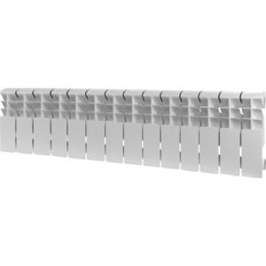 Радиатор отопления ROMMER Plus 200 алюминиевый 14 секций  радиатор алюминиевый roomer plus 8 секций 200 96