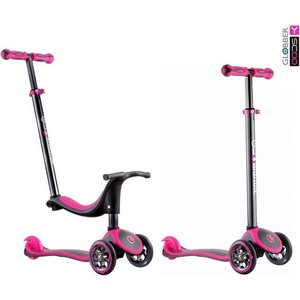 все цены на Y-Scoo Y-SCOO RT GLOBBER My free Seat 4 in 1 TITANIUM neon pink с блокировкой колес онлайн
