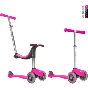 Y-Scoo Самокат RT GLOBBER My Free NEW Technology Seat 4 in 1 pink с блокировкой колес new in stock vi 26r my