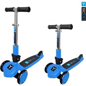 купить Y-Scoo Самокат RT TRIO 120 NEON blue недорого