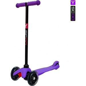 Самокат 3-х колесный Y-Scoo mini A-5 Shine цв. purple со светящими колесами самокат 3 х колесный y scoo y scoo самокат 3 х колесный mini jump