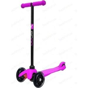 Y-Scoo Самокат mini A-5 Shine цв. pink со светящими колесами