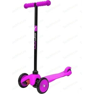 Самокат 3-х колесный Y-Scoo mini A-5 Simple цв. pink с цветными колесами самокат 3 х колесный y scoo y scoo самокат 3 х колесный mini jump