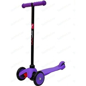 Самокат 3-х колесный Y-Scoo mini A-5 Simple цв. purple с цветными колесами самокат hello wood hw micron xl 3 purple