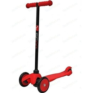 Самокат 3-х колесный Y-Scoo mini A-5 Simple цв. red с цветными колесами mini horn style aluminum alloy 3 led 1 mode white light flashlight keychain red 3 x ag10