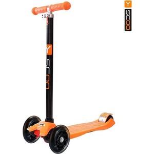 Самокат 3-х колесный Y-Scoo maxi -20 Shine цв. orange со светящими колесами