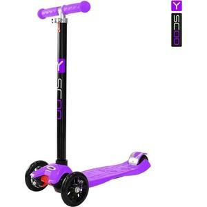 Самокат 3-х колесный Y-Scoo maxi A-20 Simple цв. violet самокат 3 х колесный 21st scooter 21st scooter самокат 3 х колесный maxi scooter зеленый