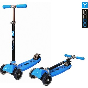 Самокат 3-х колесный Y-Scoo MAXI CITY RT Simple Gagarin трансформер blue самокат 3 х колесный 21st scooter 21st scooter самокат 3 х колесный maxi scooter зеленый