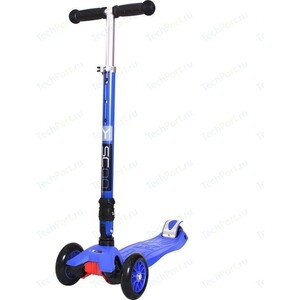 Самокат 3-х колесный Y-Scoo 35 MAXI FIX Simple dark blue самокат 3 х колесный 21st scooter 21st scooter самокат 3 х колесный maxi scooter зеленый