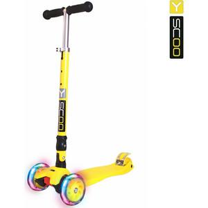 Купить со скидкой Y-Scoo Самокат 35 MAXI FIX Shine yellow со светящимися колесами